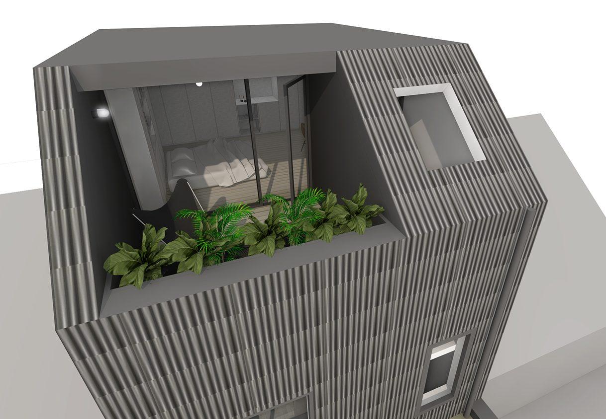 faktordertig - architectuur - interieur - inpandig dakterras - groen - licht