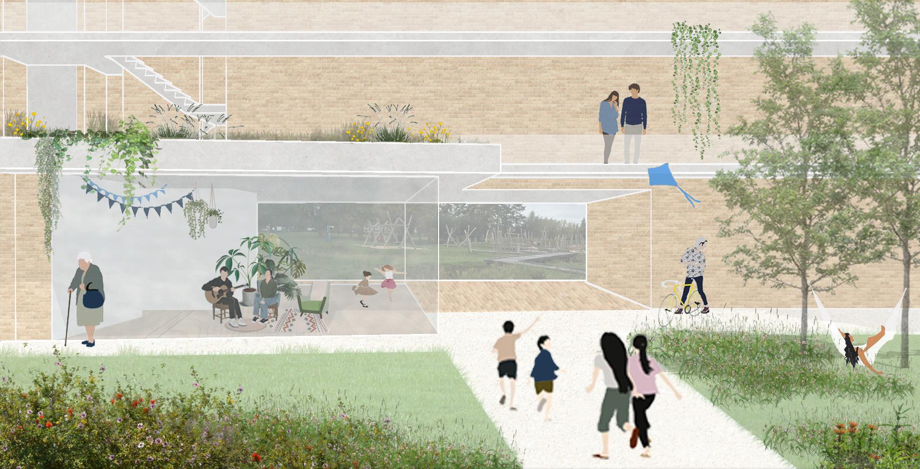faktordertig wedstrijd housing commonhouse architectuur Lokeren ecologisch bouwen hoedhaar